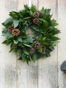 Christmas door wreath workshops in Kent