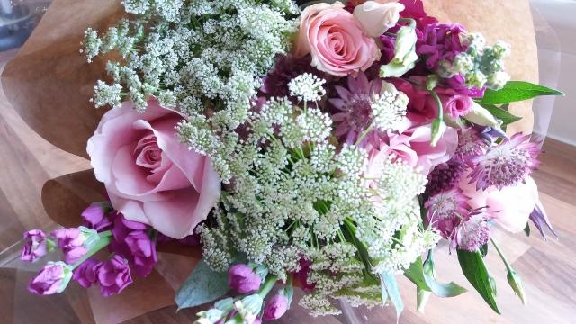 Bunch of supermarket flowers