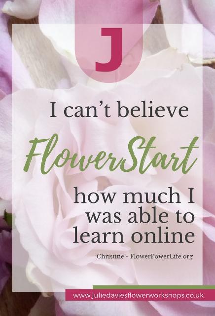 FlowerStart 4-week online flower arranging class