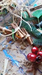 Christmas door wreath hygge