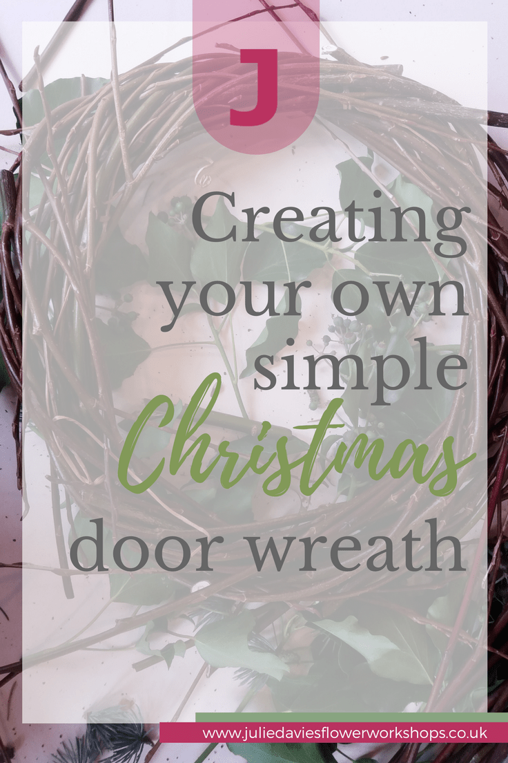 creating your own simple Christmas door wreath