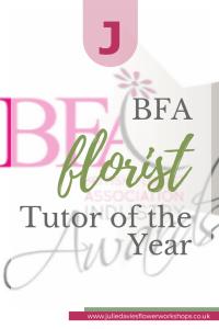 BFA Florist Tutor of the Year