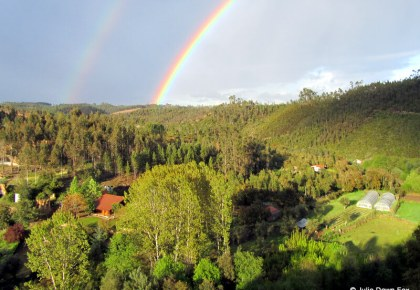 double rainbow over Moura Morta