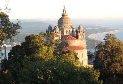 The basilica of Santa Luzia at Viana do Castelo, Portugal