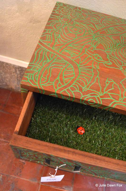 Renovated wooden drawers by Gezo Marques