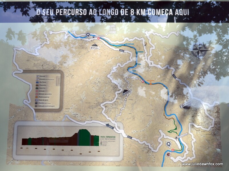Map of the Paiva boardwalk