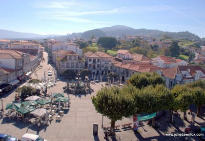 Praça Conselheiro Silva Torres, Caminha, Portugal. Photography by Julie Dawn Fox