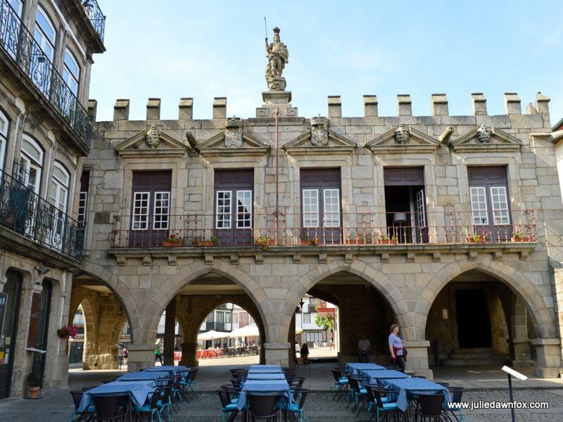 Largo da Oliveira cafés and former council chambers, Guimarães, Portugal. Photography by Julie Dawn Fox