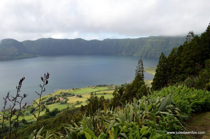 Blue crater lake, Sete Cidades, Azores. Photography © Julie Dawn Fox