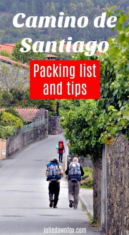 Camino de Santiago packing list and tips