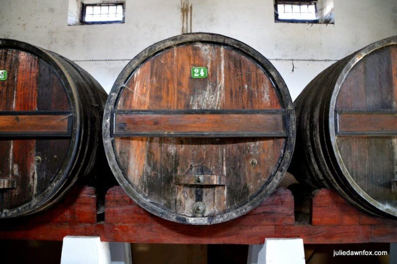 Ancient oak casks Quinta do Sanguinhal