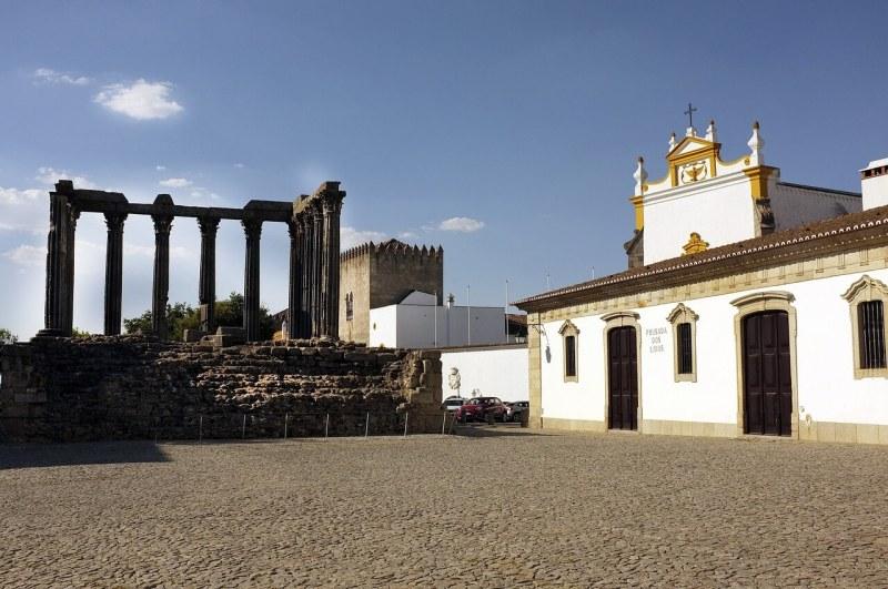 Roman temple, Evora Portugal