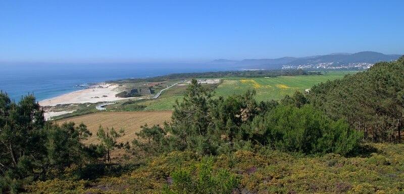 Beautiful Minho countryside and beach near Montedor. Minho self-guided walking holiday