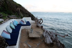 Sundowner deck by sea