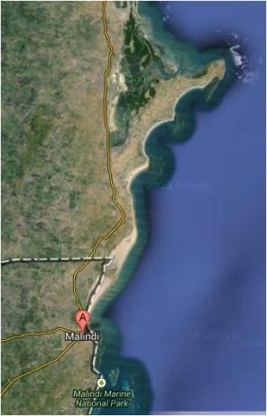 Location from Malindi googlemap