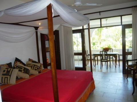 bed to verandah