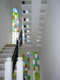 staircase with colour