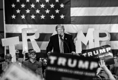 Trump in Baton Rouge during the presidential campaign