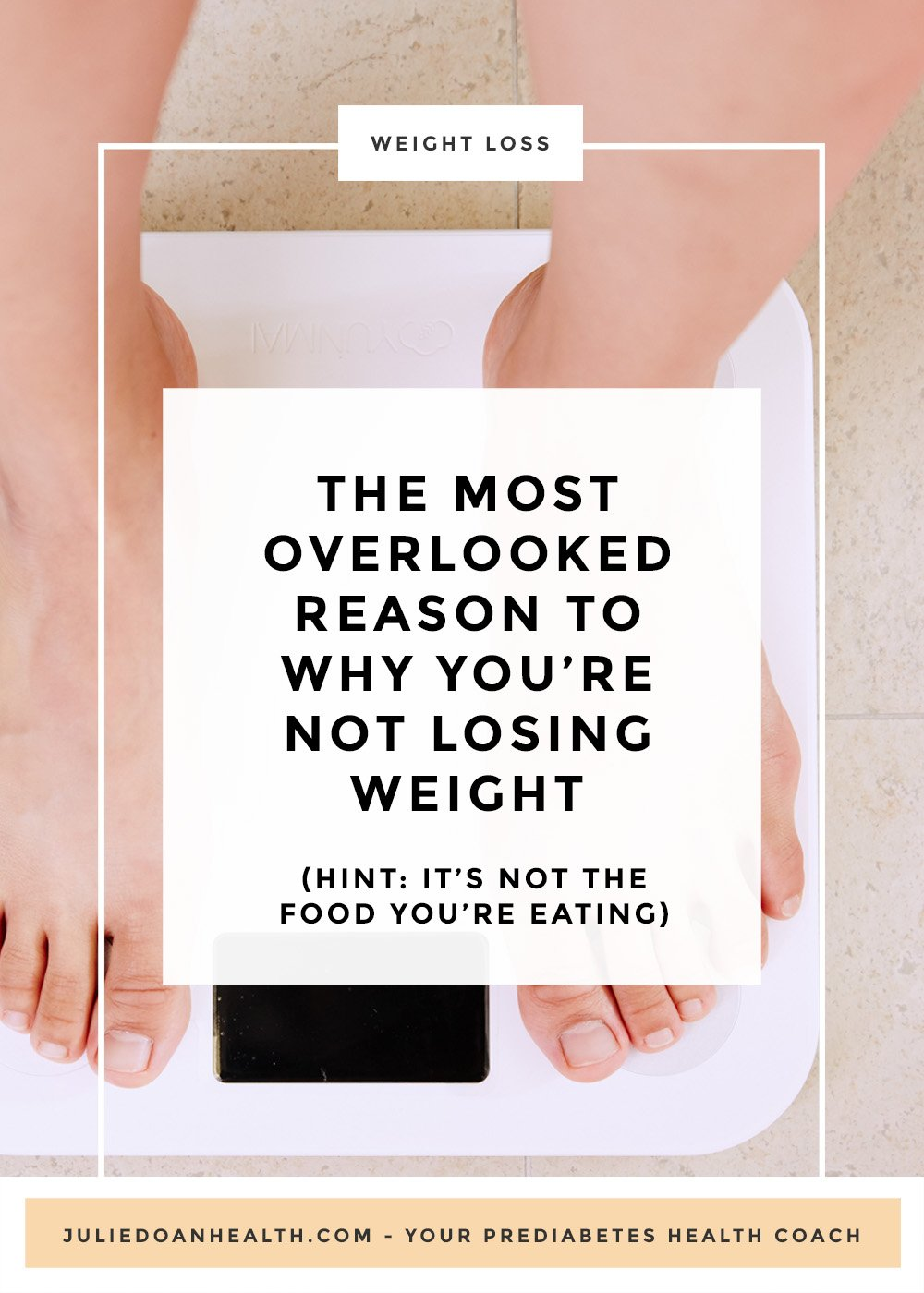 Do you have prediabetes and are looking to lose weight, but can't seem to get rid of the excess pounds? Discover the often overlooked reason to why you're not losing weight. Hint: it's not the food you're eating.