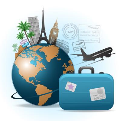 Travel background illustration