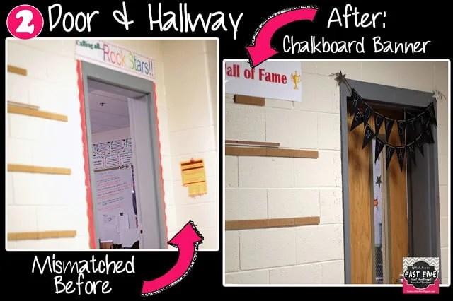 Burlap, Chalkboard, Pink Black