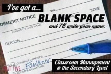 Formula for Classroom Success Series Post#1: Classroom Management