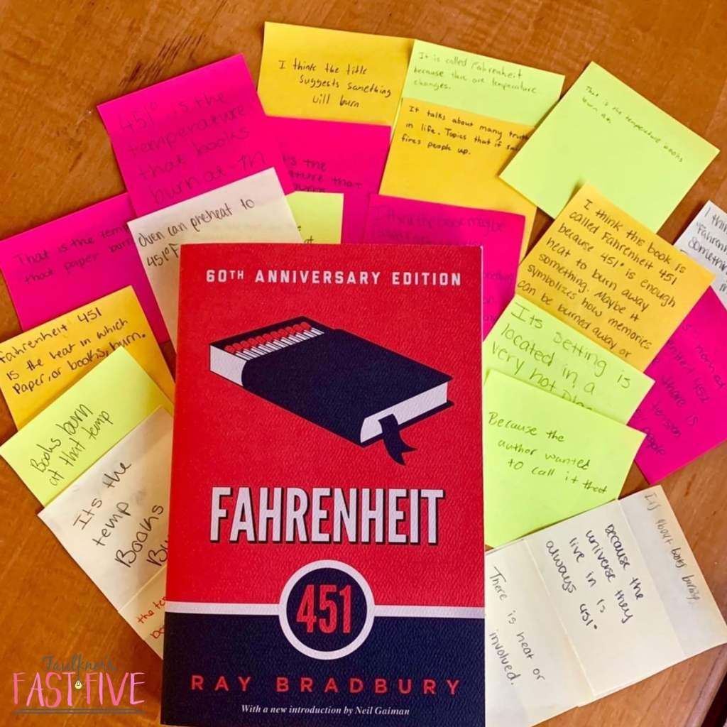 Ways to Begin a Novel Unit, Teaching Fahrenheit 451