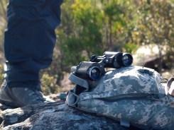 Binoculars, Hiking Boots and Camelbak