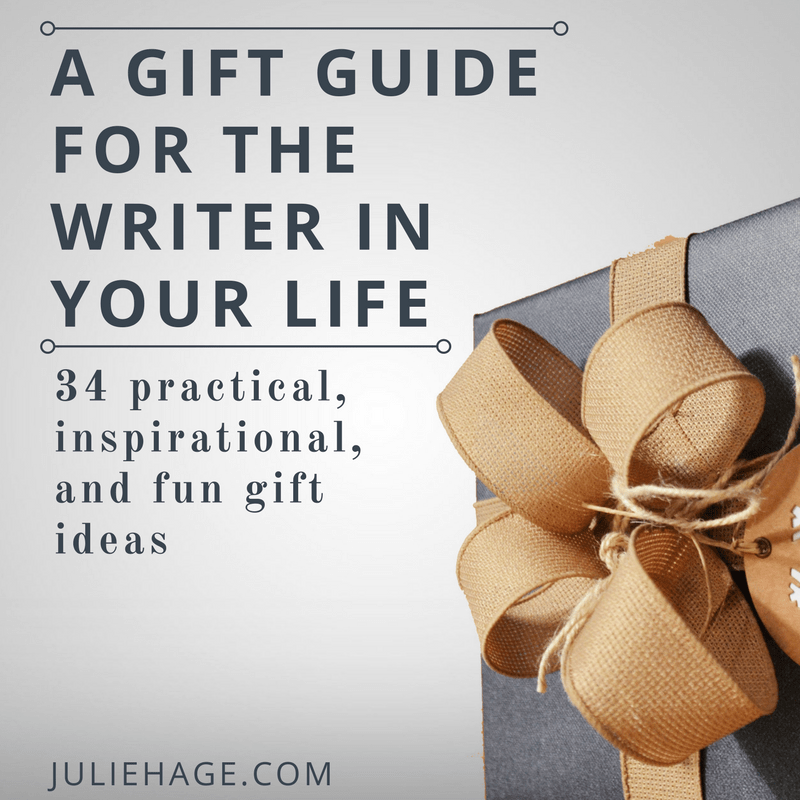 Need the perfect gift for the writer in your life? This gift guide for writers has 34 practical and inspirational suggestions to help make your search easy. | #writing | #giftguide | #writinglife | #whatawriterwants