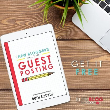 The New Bloggers Guide To Guest Posting - from Elite Blog Academy | #bloggingtips | #EBA | #freeblogtips | #amblogging