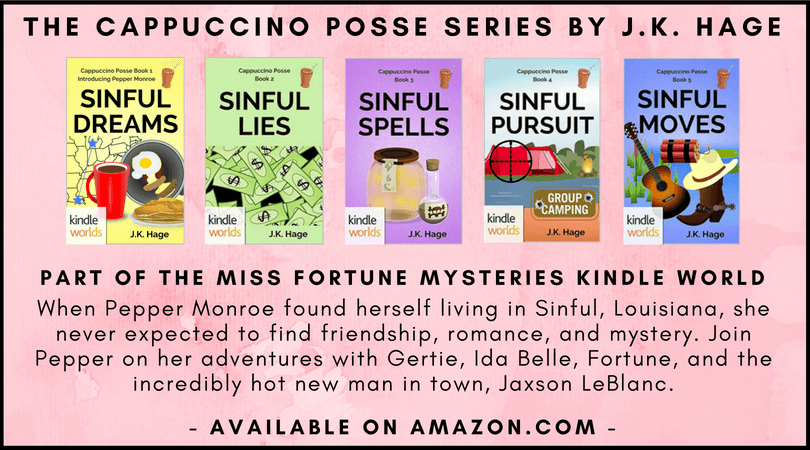 The Cappuccino Posse cozy mystery series by J.K. Hage