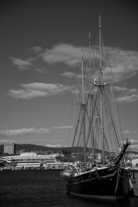 Sailing Boat in Oslo Harbour