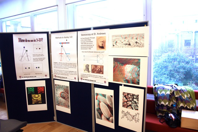 Posters explaining basic principles of vision
