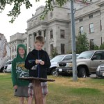 Geocaching at the Helena State Capitol