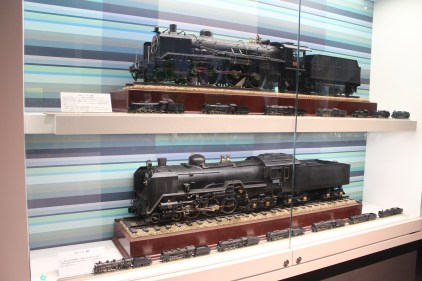 Old coal-powered train models.