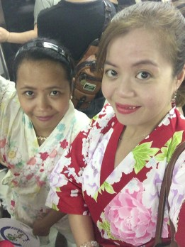 Crizelda and I in our jinbei.
