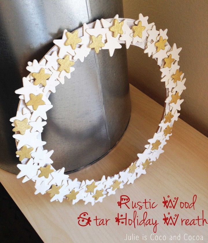 Rustic Wood Star Wreath by Julie is Coco and Cocoa
