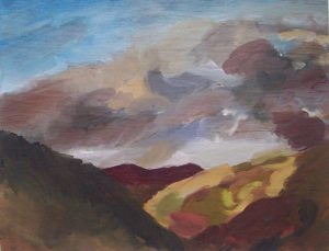 Clouds, Corris Valley by Julie Jones