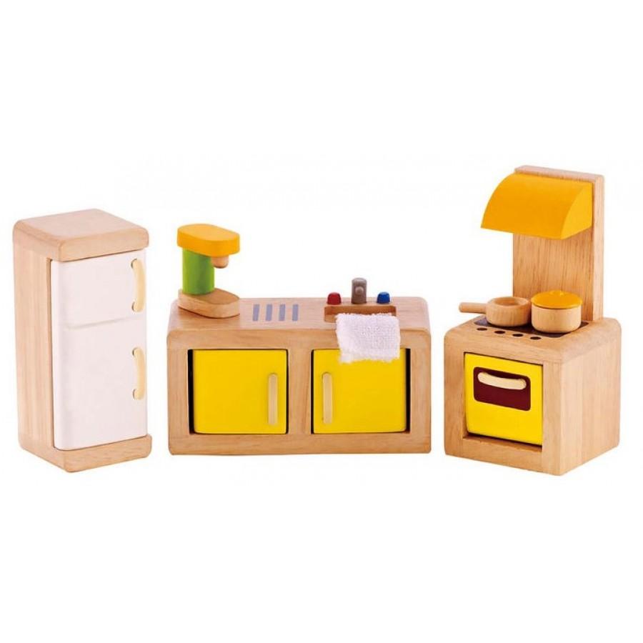 meubles de cuisine pour maison de poupees hape