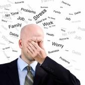 Stress Man. Businessman suffers from a headache