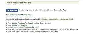 Goodreads Facebook tab