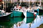 bateaux turquoise