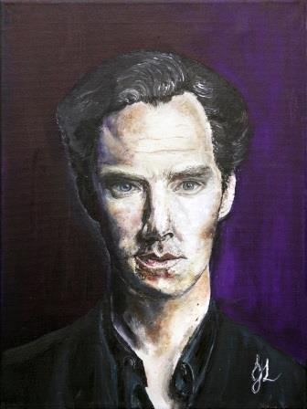 Mr Cumberbatch | Oil on Canvas by Julie Lovelock