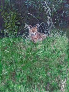 Secret World Fox | Oil on Canvas by Julie Lovelock
