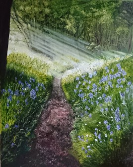 Anthea's Path | Oil on Canvas by Julie Lovelock
