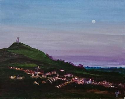 Twilight Tor   Oil on Canvas by Julie Lovelock