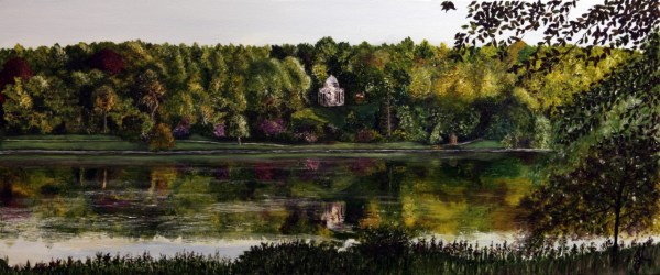 Stourhead Reflections: Temple of Apollo - Original Oil by Julie Lovelock