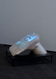 1_JulieMalen_RaggedSopris, SingleChannelVideowithSound,Ceramic, Steel, Plexi Glass, EVA Foam, 13'x20'x10', 2014