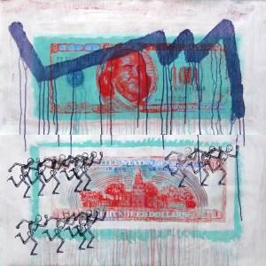 Saatchi-artsy-contemporary-julien-Guibreteau-Dollar-running