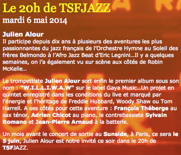 Le 20H de TSF JAZZ (Interview)